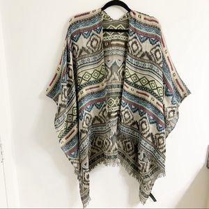 Express Aztec Poncho /Scarf